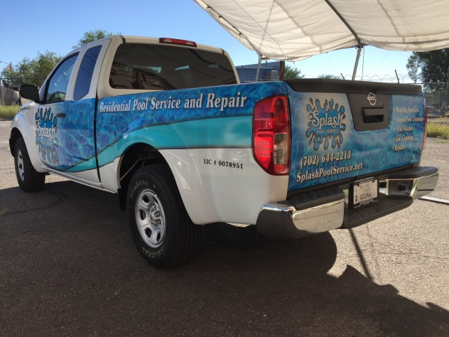 Splash Pools vehicle wrap