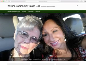 web design - Arizona Community Transit website home page